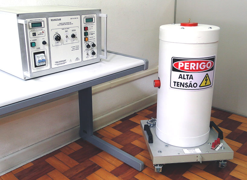 EAT-CIL 10-050-21-BR  -  Conjunto para ensaio de AT aplicada em ca 50kV-200mA Manual  - HIPOT